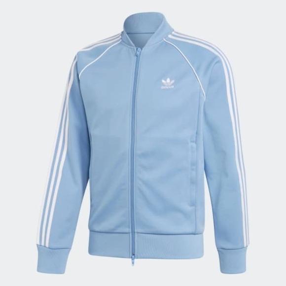 baby blue adidas sweatshirt